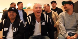 JO KOY with the CROOKS GUYS: Dennis Calvero (right) with Jo Koy (middle) and Emil Soriano (2nd to left on top row)