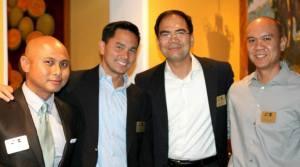 Jun with board members Neil Estrada, Virnie Tordera, and Edwin Baloloy.