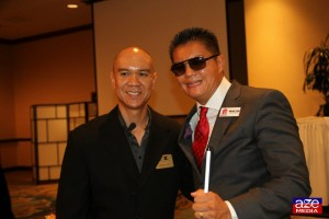 Blindstart Founder Brian Tom with FACCOC President-Elect Edwin Baloloy