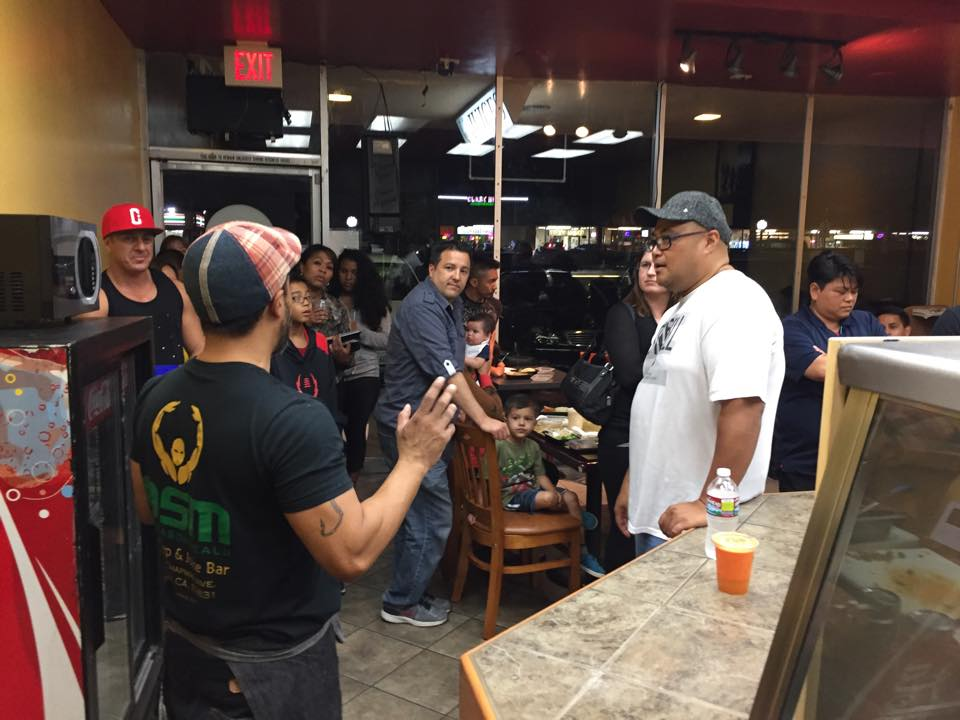 Joe Garcia thanks his friends and family in attendance of On Season Meals' soft opening.