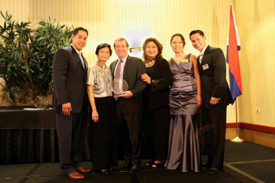 Linda Sarno (2nd from left) with Representative Ed Royce and FACCOC Past Presidents.